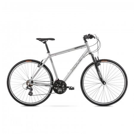 Bicicleta de trekking pentru barbati Romet Orkan M Argintiu/Gri 2021