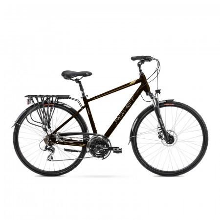Bicicleta de trekking pentru barbati Romet Wagant 4 Maro/Auriu 2021