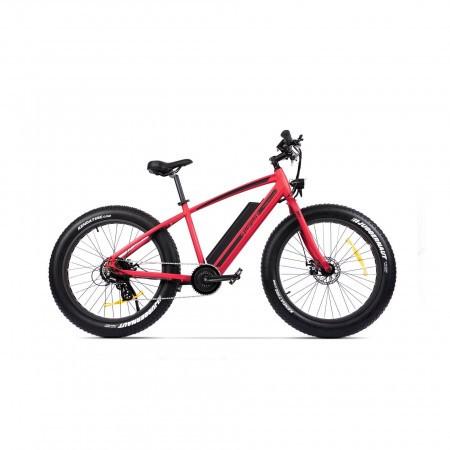 Bicicleta electrica Fatbike unisex Pegas Fatbike Suprem Dinamic E-bike Rosu Mat