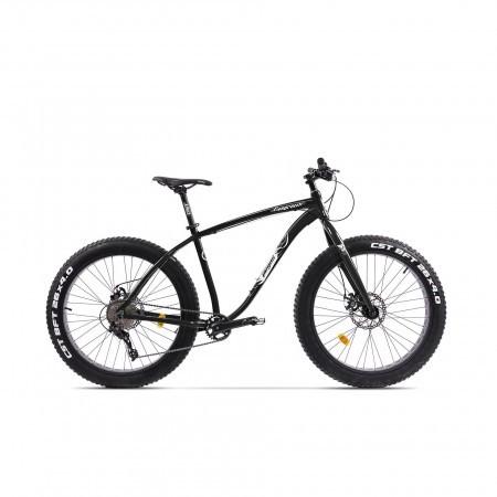 Bicicleta Fatbike unisex Pegas Suprem FX 17 inch Negru Stelar