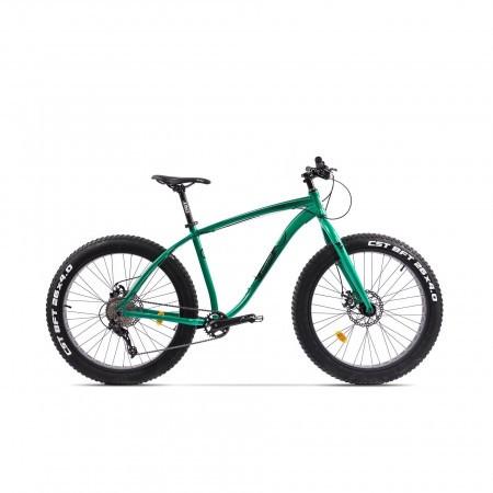 Bicicleta Fatbike unisex Pegas Suprem FX 17 inch Verde Smarald