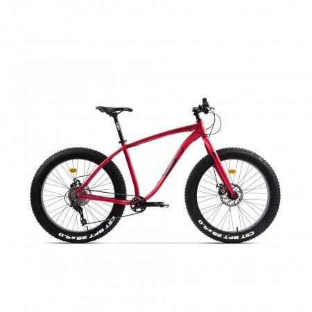 Bicicleta Fatbike unisex Pegas Suprem FX 19 inch Rosu Mat