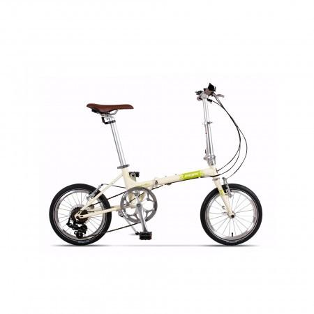 Bicicleta pliabila unisex Pegas Teoretic 7S pliabil Crem Inghetata