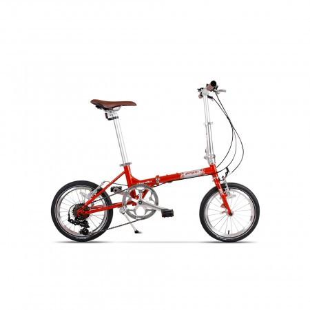 Bicicleta pliabila unisex Pegas Teoretic 7S pliabil Portocaliu Cupru