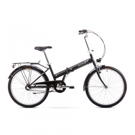 Bicicleta pliabila Unisex Romet Jubilat 2 Negru/Alb 2019