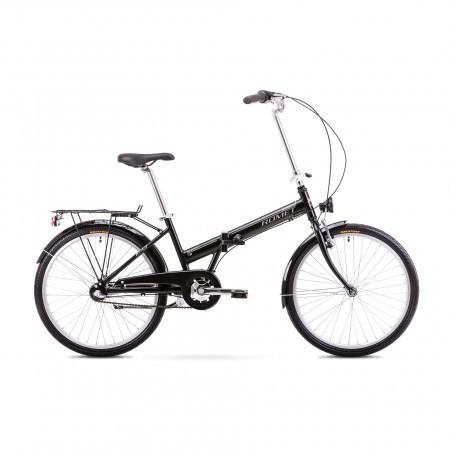 Bicicleta pliabila Unisex Romet Jubilat 3 Negru/Gri 2019