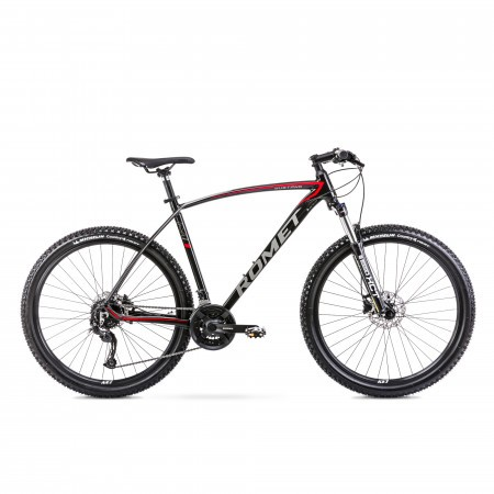 Bicicleta de munte unisex Romet Mustang M7.1 Negru/Rosu 2022
