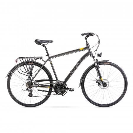 Bicicleta de trekking pentru barbati Romet Wagant 2 Grafit/Auriu 2022