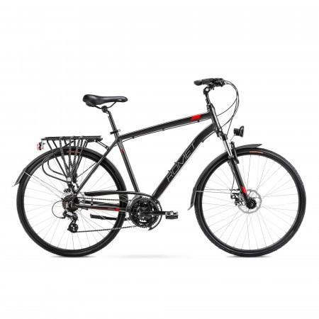 Bicicleta de trekking pentru barbati Romet Wagant 2 Negru/Rosu 2022