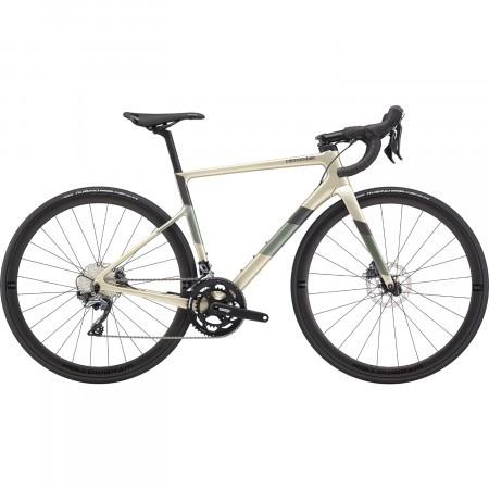 Bicicleta de sosea pentru femei Cannondale SuperSix EVO Carbon Disc Ultegra Bej auriu 2020