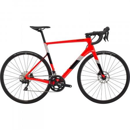 Bicicleta de sosea Cannondale SuperSix EVO Carbon Disc 105 Rosu Acid 2020