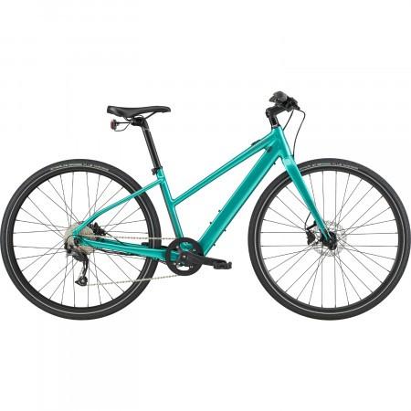 Bicicleta electrica Cannondale Quick Neo SL 2 Remixte Turcoaz 2020