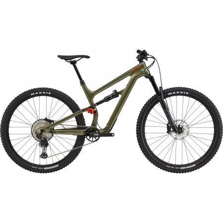 Bicicleta de munte full-suspension Cannondale Habit Carbon 2 Verde kaki 2021