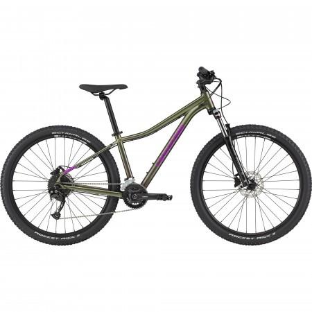 Bicicleta de munte hardtail pentru femei Cannondale Trail 6 Verde/Violet 2021