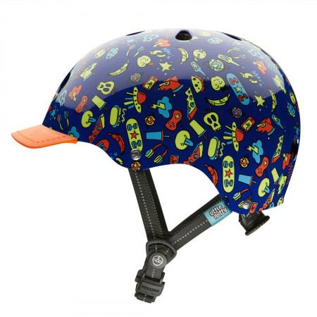 Casca protectie ciclism pentru copii Nutcase Little Nutty Street Cool Kid multicolor