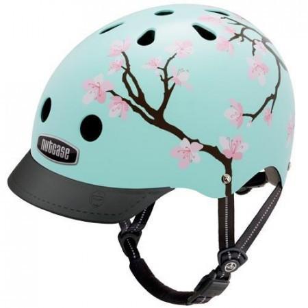 Casca protectie femei Nutcase Cherry Blossom Street Bleu 2018