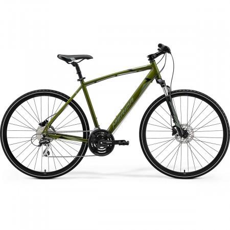 Bicicleta de trekking/oras pentru barbati Merida Crossway 20-D Verde Inchis(Verde Metalizat/Negru) 2021