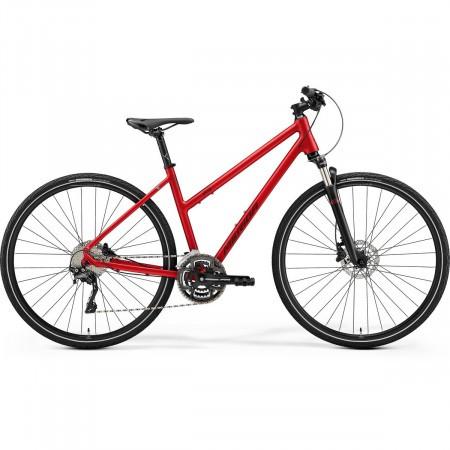 Bicicleta de trekking/oras pentru femei Merida Crossway Lady 500 Rosu burgund 2021