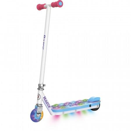 Trotineta electrica cu joc de lumini copii 8+ ani Razor Party Pop Alb