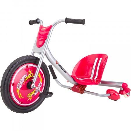 Tricicleta cu scantei pentru drifturi Razor Flash Rider 360 Argintiu/Rosu
