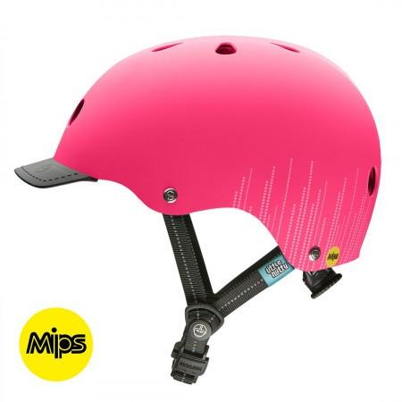 Casca de protectie pentru copii Nutcase Little Nutty Street MIPS Pink Bubbles