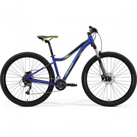 Bicicleta de munte pentru femei Merida Matts 7.60-2X Bleumarin Mat/Galben 2021