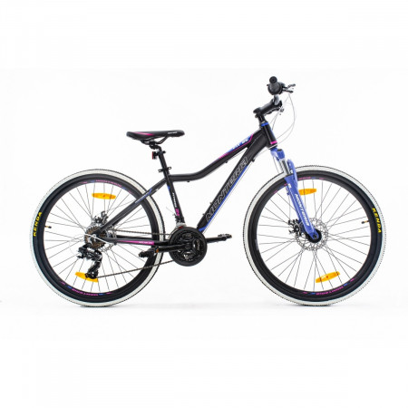 Bicicleta de munte Romet Monteria Fitness 26 Disc Negru/Roz/Mov 2021