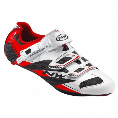 Pantofi NW Road Sonic 2 SRS 42.5 alb/negru/rosu