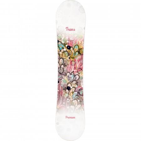 Placa snowboard copii Trans Premium JR Fullrocker Alb 2019