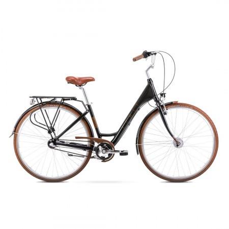 Bicicleta de oras pentru femei Romet Moderne 3 Negru/Maro 2021