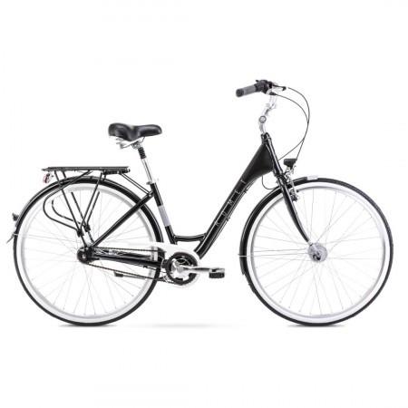 Bicicleta de oras pentru femei Romet Moderne 7 Negru/Gri 2021