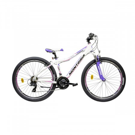 Bicicleta de munte Romet Monteria Fitness 26 Alb/Albastru/Roz 2021