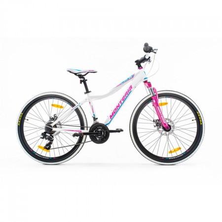 Bicicleta de munte Romet Monteria Fitness 26 Disc Alb/Violet/Roz 2021