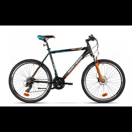 Bicicleta de munte Romet Monteria MRX Negru/Portocaliu/Albastru