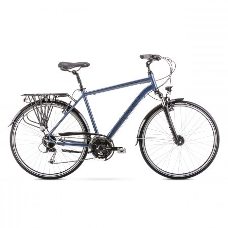 Bicicleta de trekking/oras pentru barbati Romet Wagant 5 Argintiu 2020