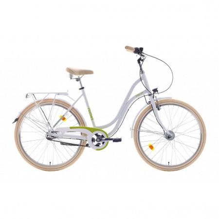 Bicicleta de oras pentru femei Romet Pop Art 26 Standard Alb/Verde 2021
