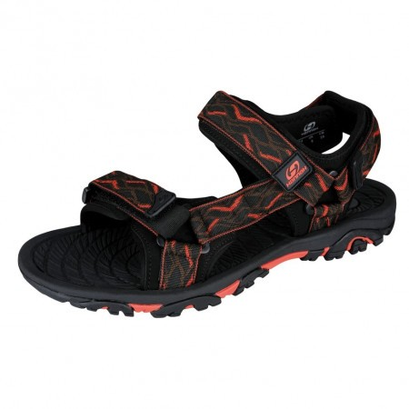 Sandale unisex Hannah Belt Negru/Portocaliu