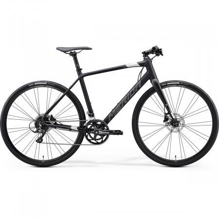 Bicicleta cursiera unisex Merida Speeder 200 Negru mat/Argintiu 2021