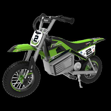 Motocicleta electrica pentru copii 13+ ani Razor SX350 Dirt Rocket McGrath Verde