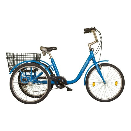 Tricicleta adulti Koliken Gommer 24 6 viteze Albastru