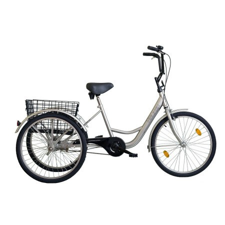 Tricicleta adulti Koliken Gommer 24 Argintiu